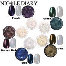 10 g/caja Gradiente Pretty Shimmer Polvos Brillo de Uñas Nail Art Shell Polvos Decoración 8320149