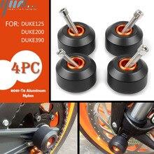 KTM DUKE125/200 KTM DUKE390 Motosiklet Ön ve Arka Tekerlek Çerçeve Kaydırıcılar Düşen Koruma Çerçeve Kaydırıcılar duke125 /200 390