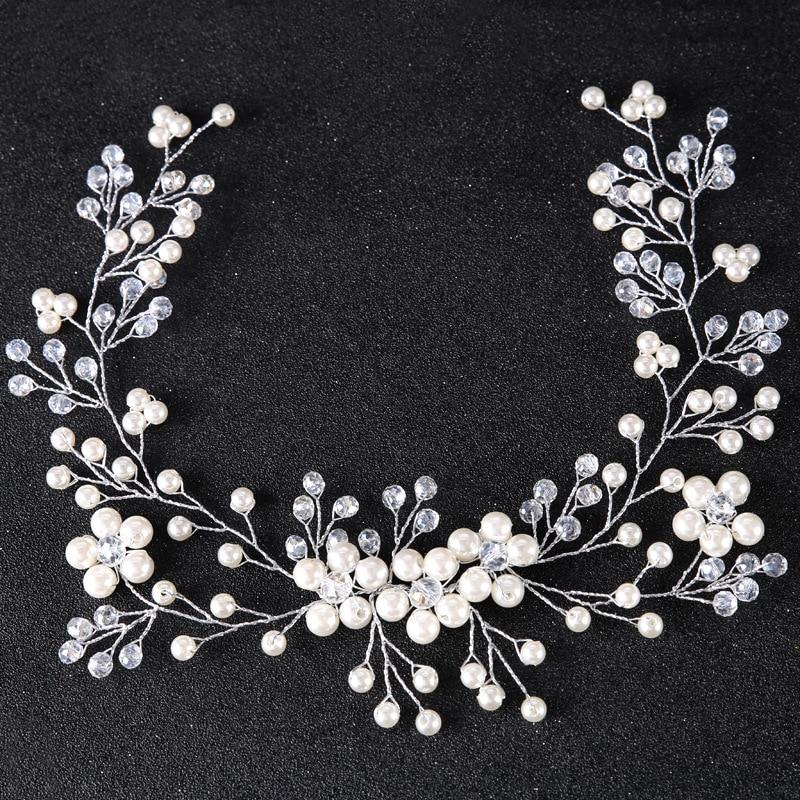Headpiece Flower Handmade Jewelry Hair-Accessories Wedding-Hair Rhinestone Bridal Floral