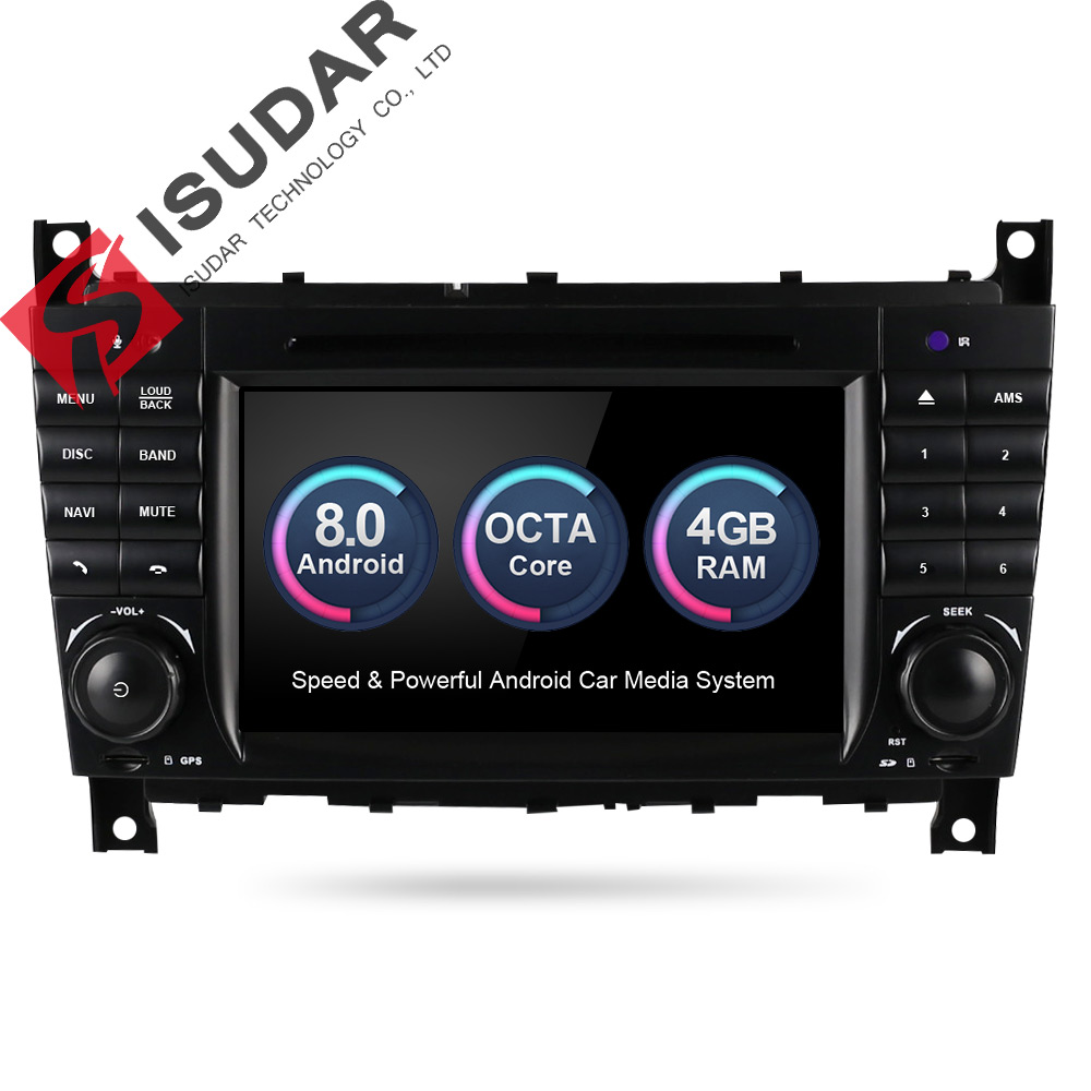 Isudar Voiture Multimédia Lecteur GPS Android 8.0 Autoradio Pour Mercedes/Benz/Sprinter/W203/A180/Viano /Vito/Un-classe Radio FM DSP DVR