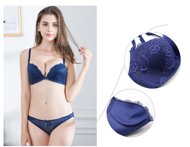 Intimates Bras For Women Sexy Underwear Super Push Up Front Closure Bra Lace Front Bras For Women Push Up Bralette 23