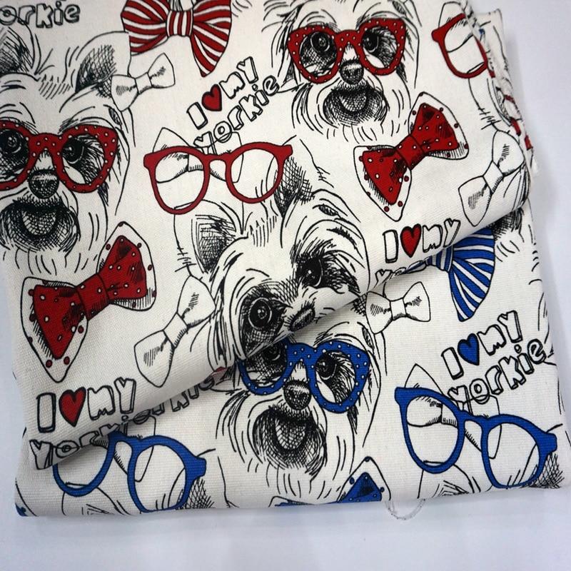 Yorkie Printed Fabric