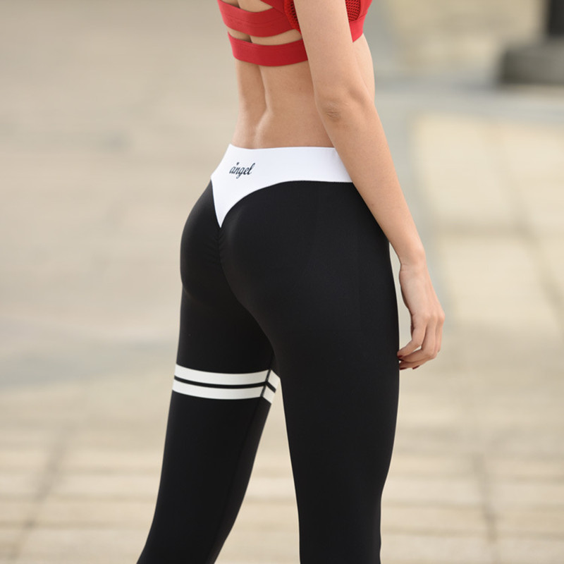 New 2016 Sexy Running Pants Women Hot Sale Sport Yoga Pants Elastic Fitness Gym leggings Patchwork Pants P139