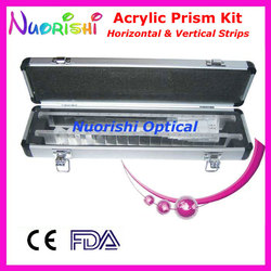 Ophthalmic Optische Optometrie Acryl Horizontale Vertikale Prism Objektiv Streifen Kit Set Aluminium Fall Verpackt HVB16 Freies Verschiffen