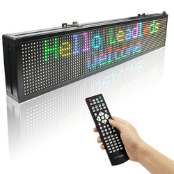 76CM 15M Remote control SMD Full color Programmable LED Display Open Running Two Lines Scrolling Message sign Board