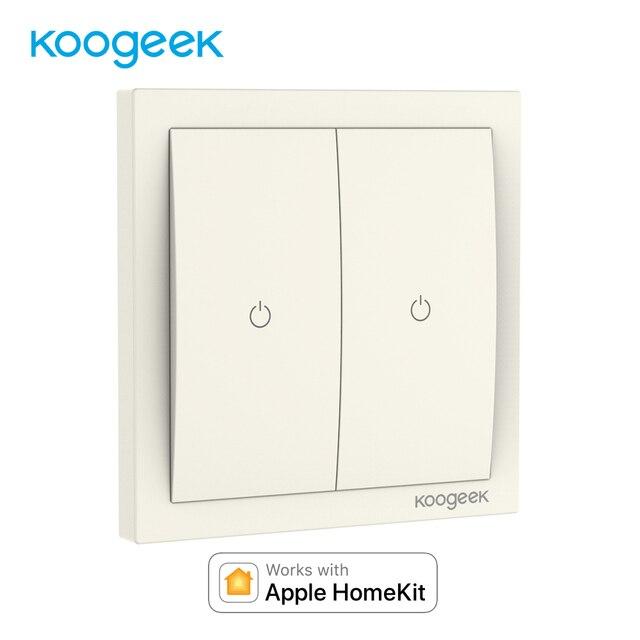 Koogeek Smart Remote Control Wifi Switch Two Gang Single Pole Wall ...