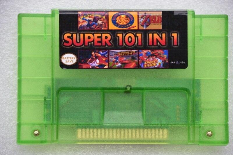 Super 101 en 1 pour NES-multi cartouche de jeu vidéo 16 bits 46 broches pour consoles de jeux version USA (24 jeux peuvent économiser sur batterie)