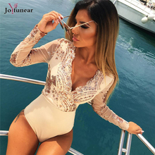 Joyfunear style short Sexy Women Jumpsuit V-neck Bling Sequin Party Playsuit