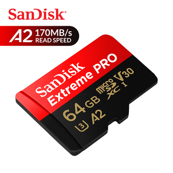 SanDisk Memory Card Extreme Pro microSDHC/microSDXC UHS-I Class10 C10 U3 100MB/s 32GB 64GB TF Card 4K HD With Adapter