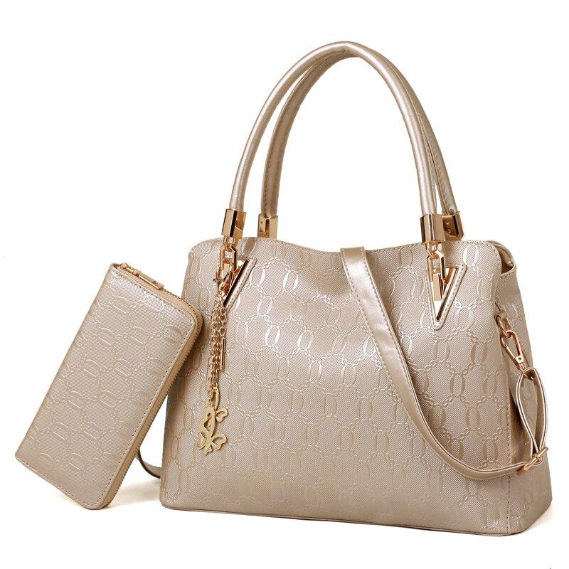 Fashion PU Leather Women Tote Bag Shoulder Bag Big Casual Designer Ladies Elegant Women Purses Clutches