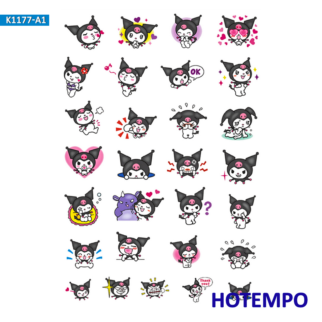 Sanrio Kuromi Melody Keroppi Pom Pom Purin Stickers For Children DIY Letter Diary Scrapbooking Stationery Pegatinas Stickers