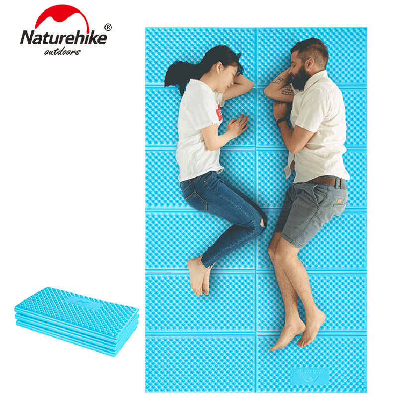 NatureHike Outdoor Picnic mat Moistureproof Camping Mattress pad Aluminum Film Folding Egg Slot Yoga mat Ultralight