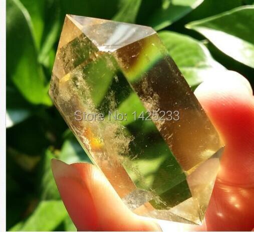 Горячая Распродажа 1 шт. натуральный кристалл цитрина двойной прекращается исцеляющий