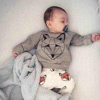 2016 winter hot bán quần áo bé gái đặt fox Phim Hoạt Hình mẫu sơ sinh bông bé quần áo ấm quần áo trẻ sơ sinh