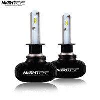 Nighteye 8000LM H1 Auto Car LED Headlight Kit Car Driving Fog Lamps DRL Replace Bulbs White 6500K Free Shipping
