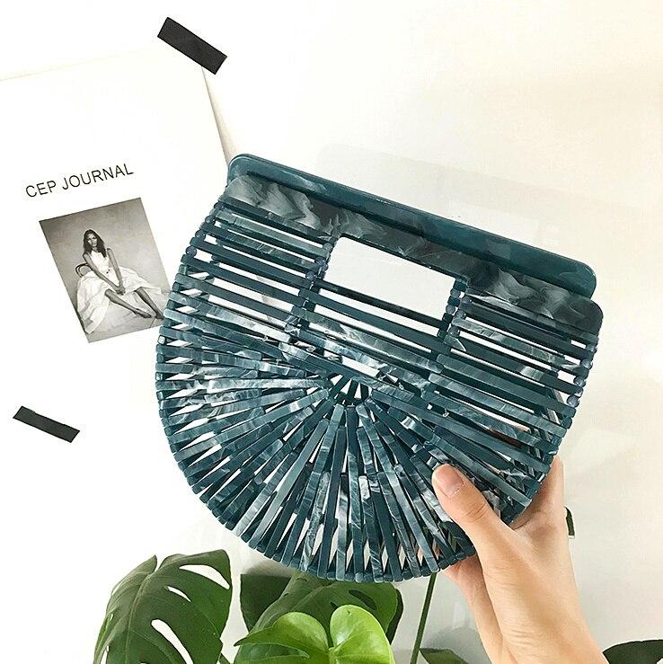 Sac à main en acrylique Ins blogueuse de mode avec vacances plage panier en acrylique sacs pour femmes 2019 Bolsa Feminina