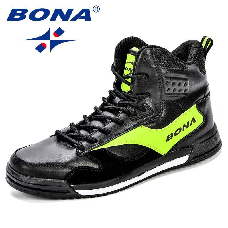 Image 4 - BONA New Style Men Skateboarding Shoes Man Lovers Flat With  Walking Sport Shoes Microfiber Outdoor Athletic Sneakers  ShoesSkateboarding