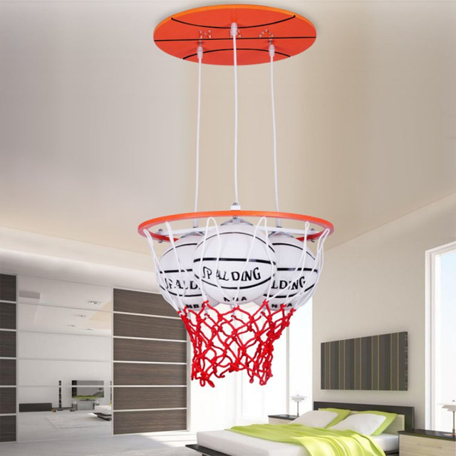 3led pendant lights personality boys room luminarias led modern 3led pendant lights personality boys room luminarias led modern lighting basketball childrens luminaria e27 220v for aloadofball Image collections