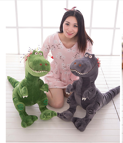 big new plush dinosaur toy creative Tyrannosaurus rex doll gift about 80x60cm 0351 the dinosaur island jurassic infrared remote control electric super large tyrannosaurus rex model children s toy