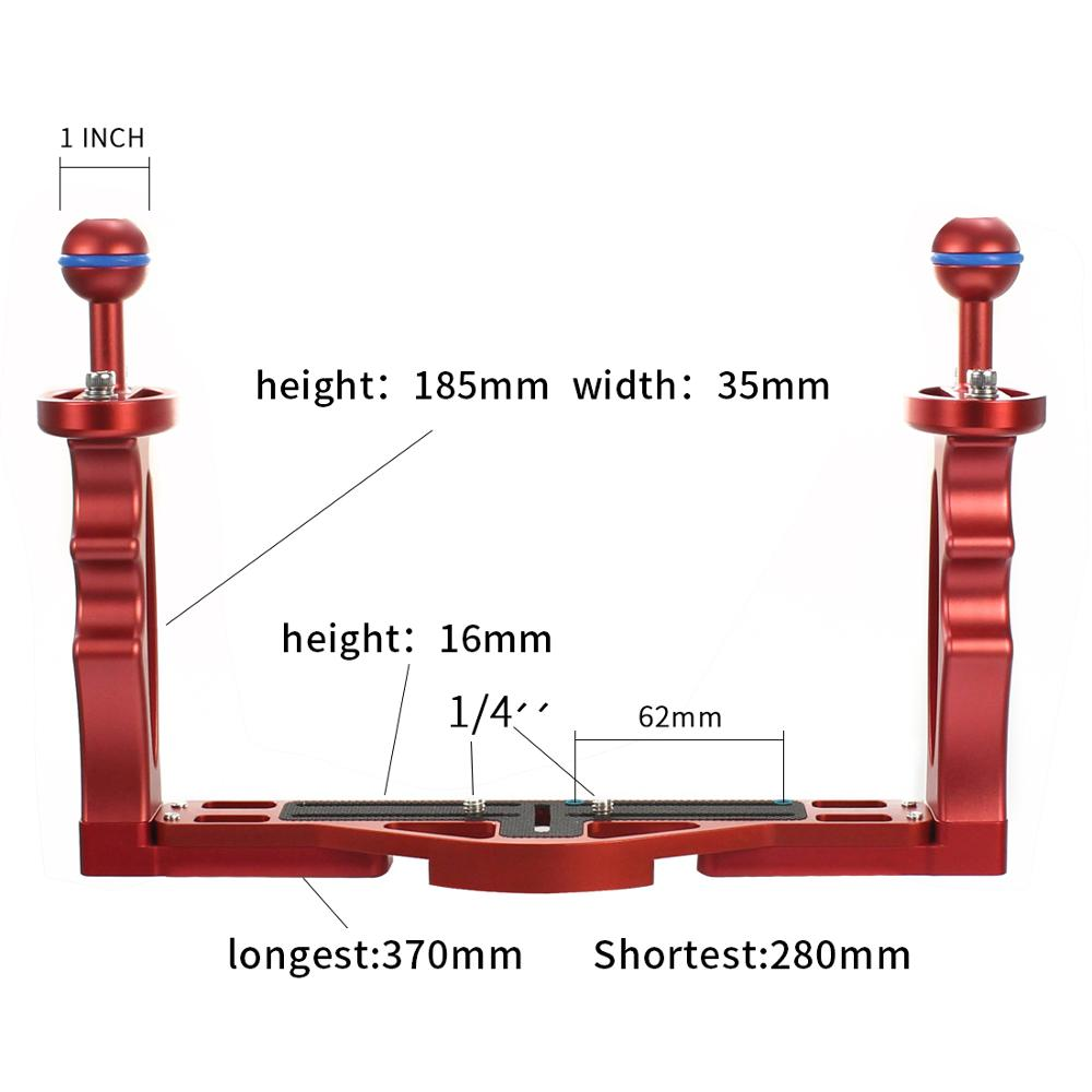 Image 4 - Diving Handle Tray Bracket Mounting with Adjustable Shutter Extension Rod DSLR SLR Camera Waterproof Case Underwater Photography-in Photo Studio Accessories from Consumer Electronics