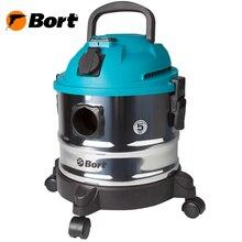 Пылесос универсальный Bort BSS-1015 (вместимость пылесборника 15л., для сухой и влажной уборки, сила всасывания 285Bт, возможность подключения электроинструмента, функция выдува и сбора жидкости )