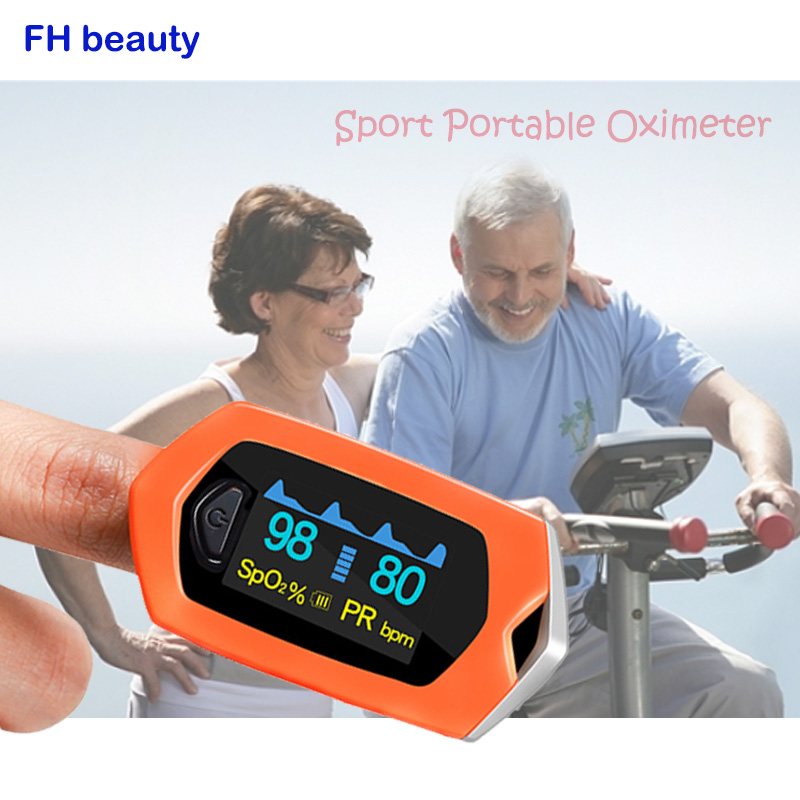 FH beauty Medical Family Finger Pulse Oximeter Blood Oxygen Saturation SPO2 Rechargeable Pediatric Pulse Oximeter outdoor sports
