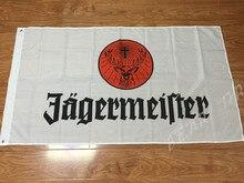 Jagermeister bandera 3x5ft bandera personalizada negro con manga negro 120g envío libre actividad de poliéster bandera
