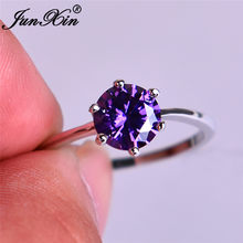 JUNXIN Multicolor หิน Rainbow Fire Birthstone แหวน(China)