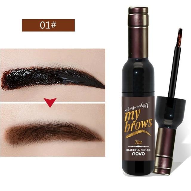 Eye Brow Makeup Maquiagem 3D Peel Off Eyebrow Gel + Eyebrow Stencil Natural Eyebrow Tint Tattoo Mascara Brushes Beauty 3