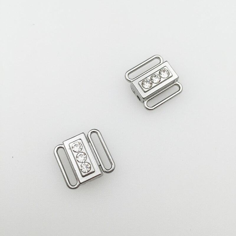 200 set/lote Baño de hebillas de cierre frontal clips de níquel y ferrosos gratis-in Hebillas y ganchos from Hogar y Mascotas    1