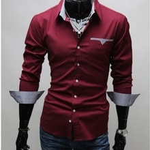 wholesale and retail long-sleeved shirt New Men's
