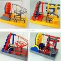 2016 NOVA Eletrônico DIY Construção Desktop Marble Run Bolas Rastrear Labirinto Brinquedos de inteligência Educacional Toy with music & light