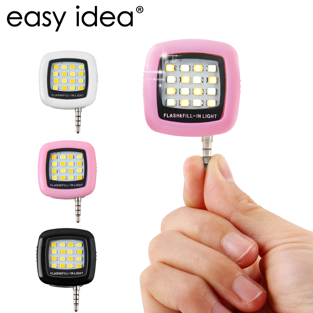 LED Selfie Flash Lamp Rechargeable Flash Fill in Light 3.5mm Jack Plug Selfie Light LED Night Using Pocket Spotlight купить на AliExpress
