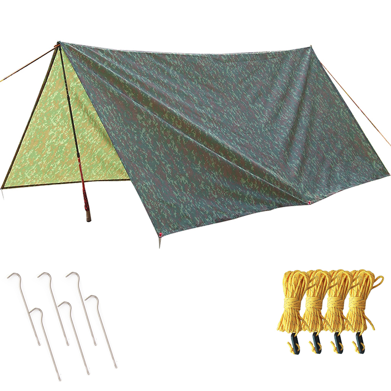 ФОТО Outdoor camo tent 3*3m Waterproof Tent Sun-Shelter For Hunting & Fishing Camping Tent including screw&guy rope