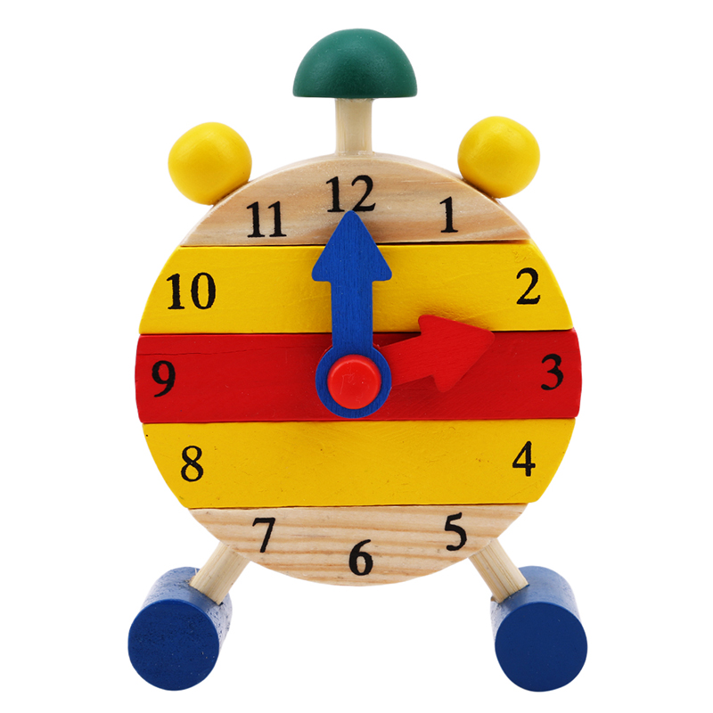 Creative Mini Clock Montessori Wooden Popular Toys For Children Digital Time Learning Education Game Boys