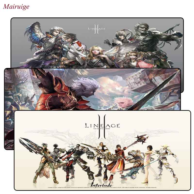 Mairuige Lineage 2 Extra Large Mouse Pad Gaming Mousepad Anti-slip Natural Rubber Gaming Mouse Mat With Locking Edge For CSGO