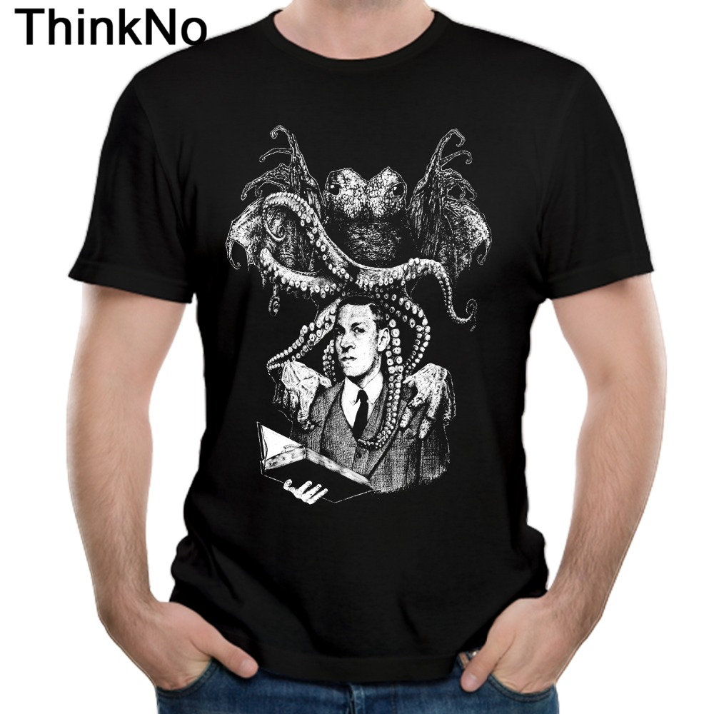 For Men Lovecraft Cthulhu T Shirt Round Neck Fashion Hot slae Nice Short-sleeved Casual Fashion Round Neck