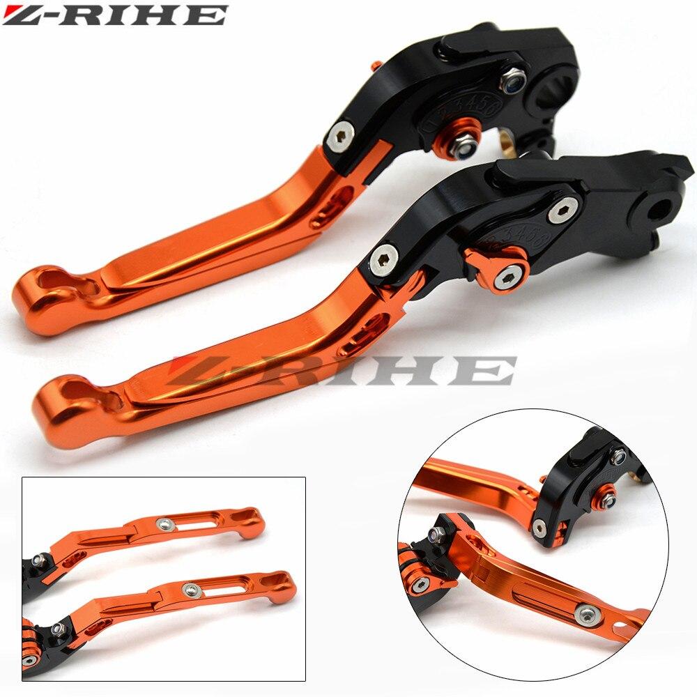 For KTM 1290 Super Duke R/GT 2014-2016  990 SuperDuke 2005-2012  690 Duke 2008-2011  Motorcycle CNC Aluminum Brake Clutch Levers folding extendable brake clutch levers for ktm 690 enduro r duke 2014