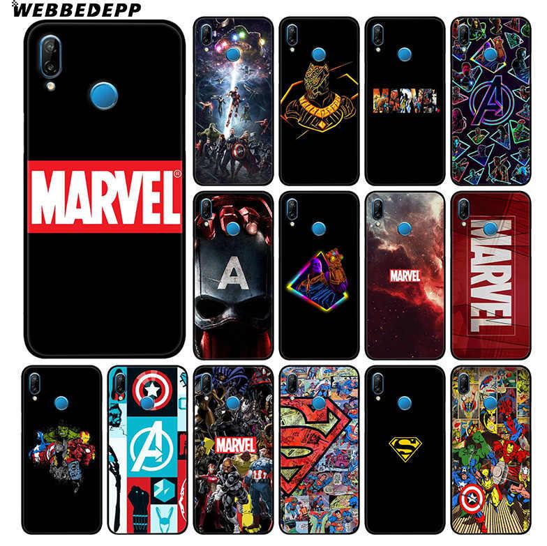 Vengadores Marvel Capitán América funda suave para Huawei P30 P20 Pro P10 P9 Lite 2017 P Smart 2019 y Nova 3 3i Y9 2019