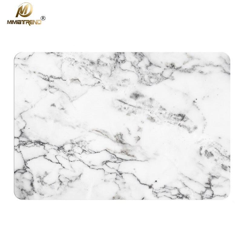 Mimiatrend White Marble Grain Laptop Skins For Apple MacBook Air Pro Retina 11 13 15 inch Computer Stickers Pegatinas Ordenador