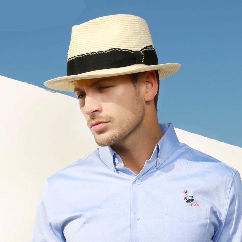 Sedancasesa 2019 New Arrival Fashion Beige Straw Hats for Women Men Summer Cap Beach Sun Caps Straw Cap Sun Hat UV Protection