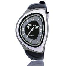 Xonix marca deportes para hombre de cuarzo analógico reloj ocasional impermeable 100 m correa de resina de la nadada del reloj