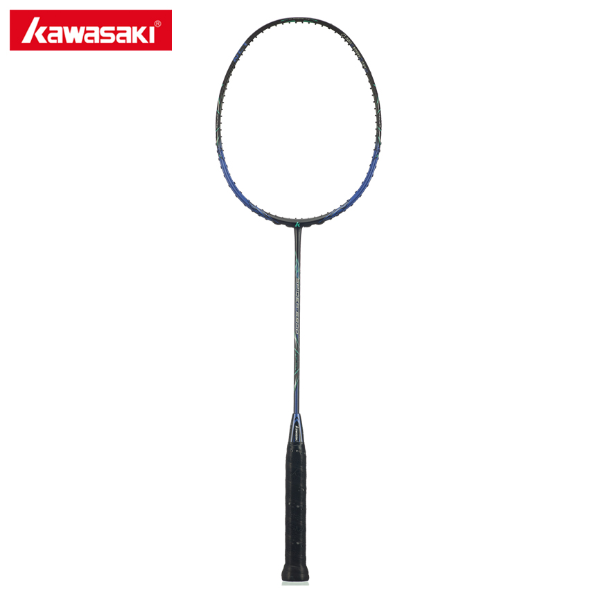 Kawasaki Brand Badminton Rackets Professional Graphite Badminton Racquet Wind Break Frame with Racket Cover Spider 6900 kawasaki brand spider 6900 badminton rackets high tech wind break frame s5 graphite fiber professional badminton racquets