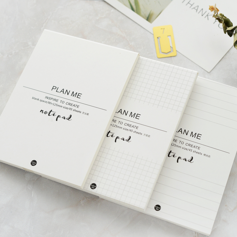 3Pcs/Set Muji Style Portable Diary Planner Notepad Mini Journal Notebook DIY Blank Page Memo Pads School Office Stationery kawaii office notebook planner travelers notebook stationery fashion school notebook planner diary bullet journal defter hjw094 page 7 page 4 page 9