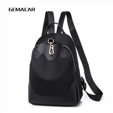 New Casual Womens Backpack Oxford Cloth Waterproof Fashion Elegant Simple Bag Personality Female Lightweight Wild Soft
