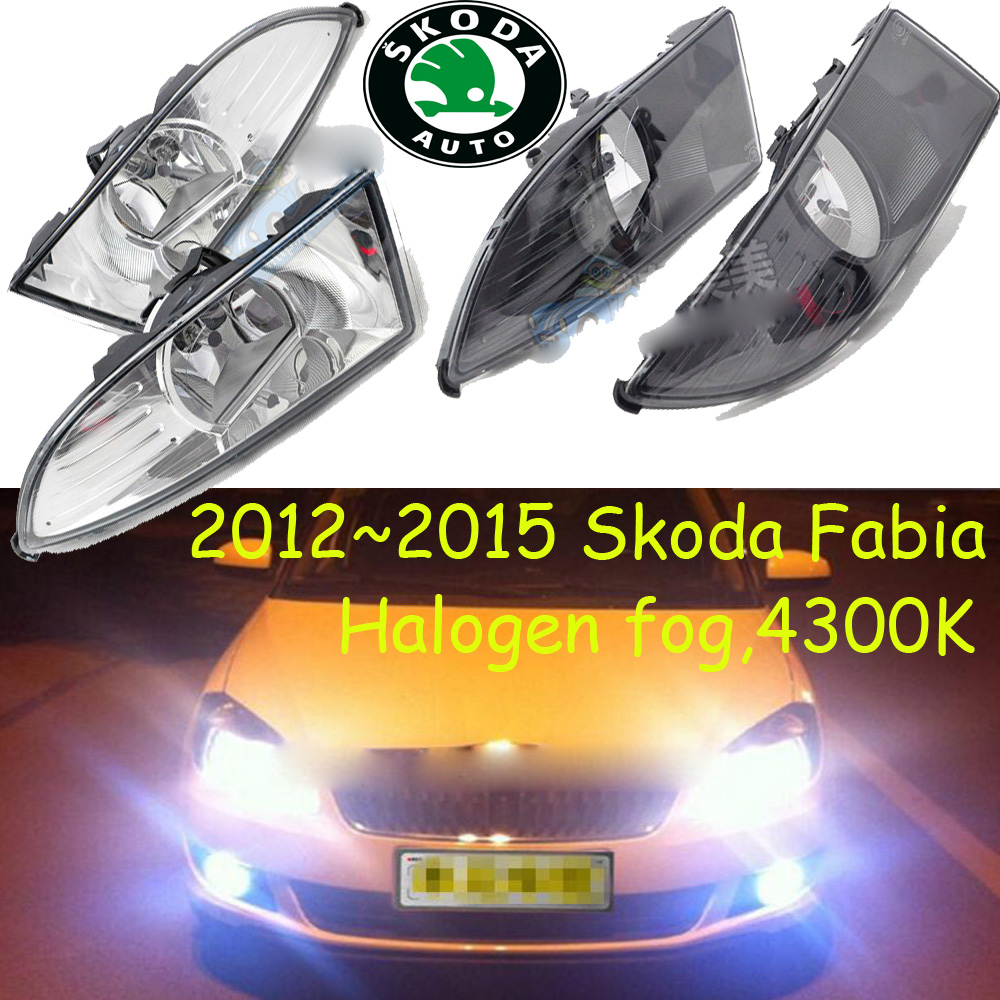 2007/2012~2015 Fabia fog light,Free ship!halogen,4300k;octavia,superb,rapid,yeti;Fabia headlight,Fabia day lamp fabia greenline в украине
