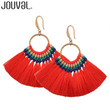 Handmade Long Tassel Earrings Vintage Women Drop Earrings 11 Colors Statement Brand Wedding Jewelry Female 2017