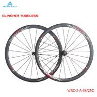 Width 23mm Oem Chinese 50mm Tubular Full Carbon Clincher Wheelset 50mm 700C Carbon Road Bike Wheels