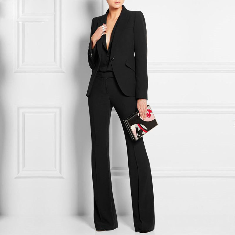 Hot Sale Women Pant Suits Ladies Custom Made Office Business Suits