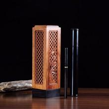 Ebony wood rosewood line pomades set vertical wool incense burner tube needle new arrival free shipping